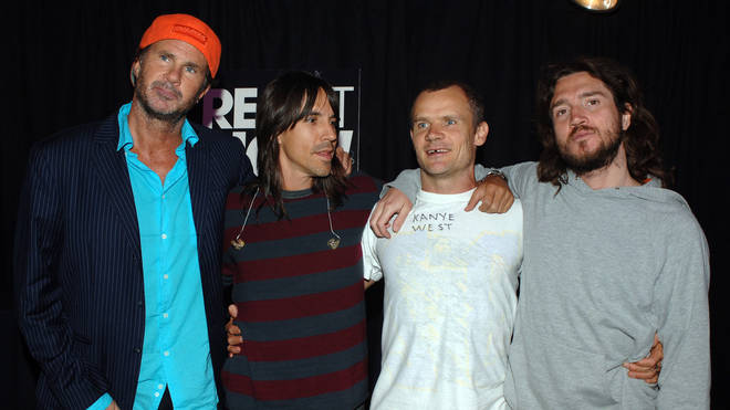 Red Hot Chili Peppers' Chad Smith, Anthony Kiedis, Flea and John Frusciante in 2005