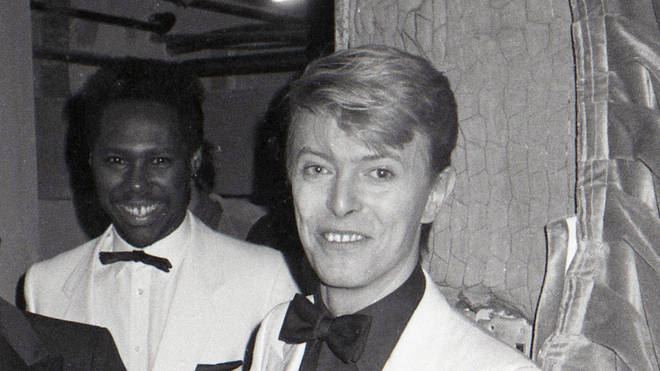 Nile Rodgers and David Bowie in 1983
