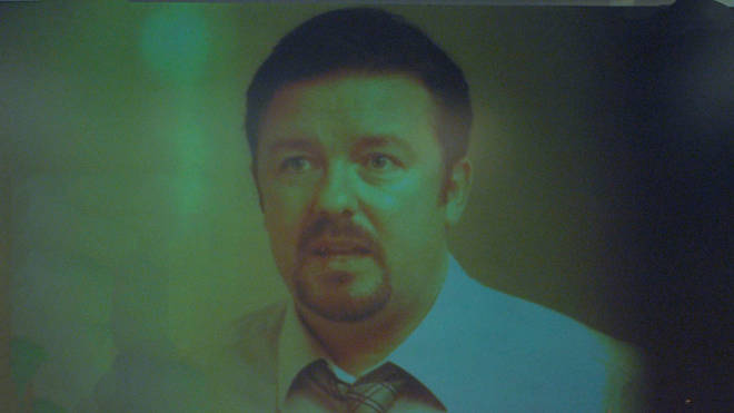 Ricky Gervais plays David Brent in The Office