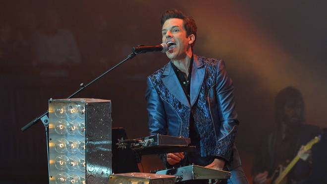 A nicer Brandon Flowers, headlining Glastonbury with The Killers in 2019