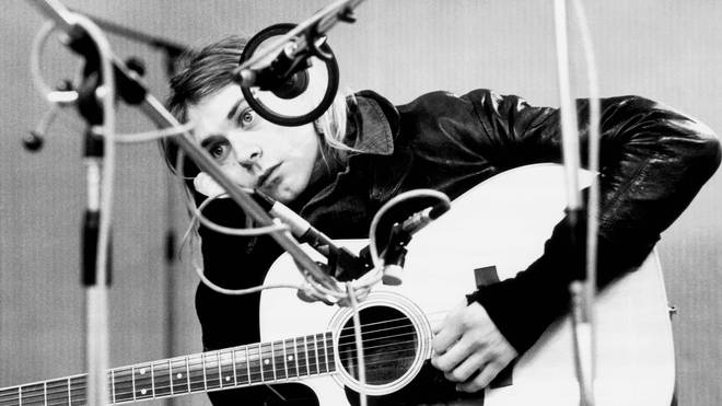 Kurt Cobain, recording in Hilversum Studios, November 1991