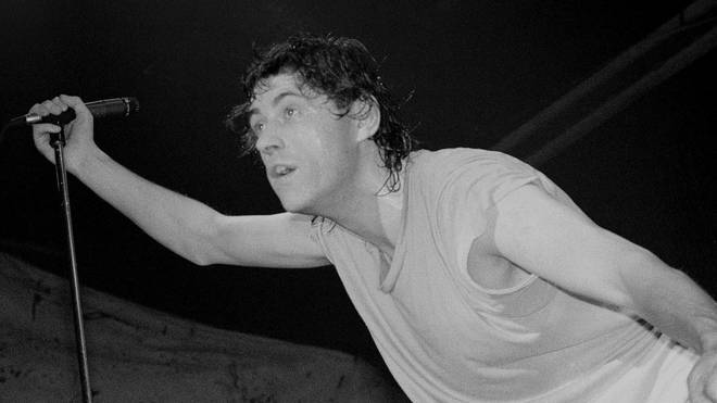 Bob Geldof performs in 1984