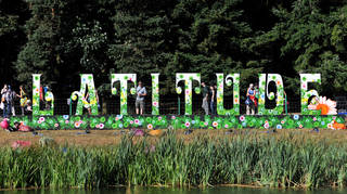 A sign from Latitude Festival 2010