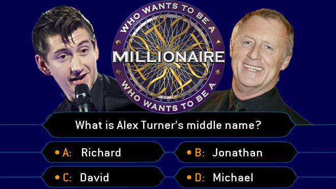 Alex Turner and Chris Tarrant