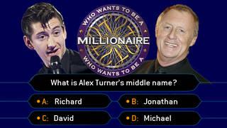 Alex Turner and Chris Tarrant