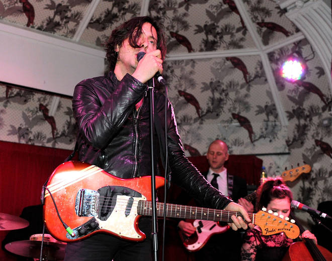 Carl Barat performs at The Deaf Institute on October 23, 2010