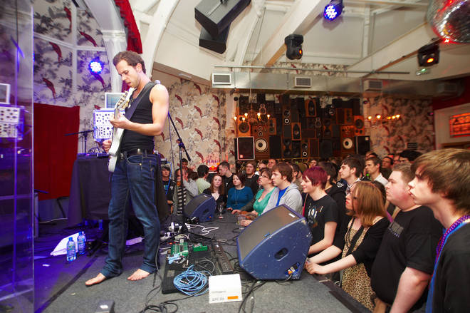 M83 performing at The Deaf Institute in 2009