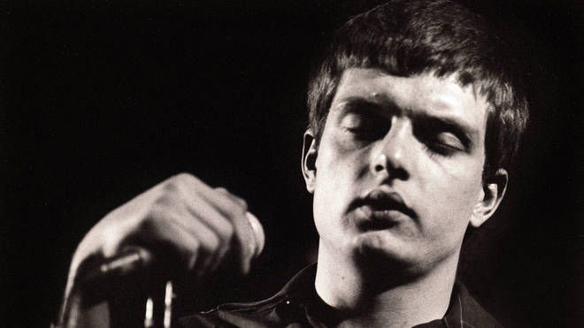 Ian Curtis performing live onstage in Rotterdam 1980