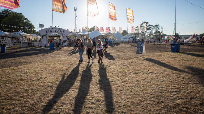 Fans on the first day of Bestival at Lulworth Castle in 2018.