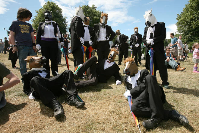 Who remembers these rubber horse masks? Latitude, 2008.