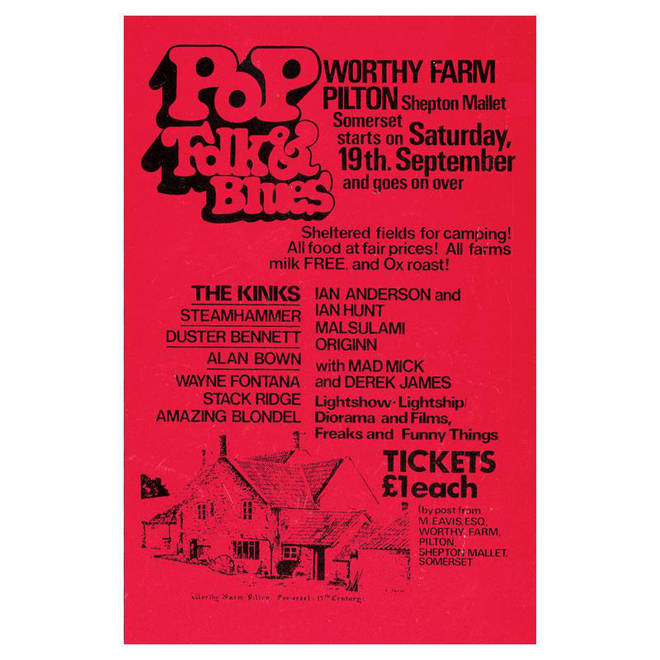 Glastonbury 1970 poster