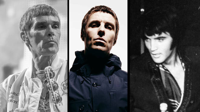 The Stone Roses' Ian Brown, Liam Gallagher and Elvis Presley