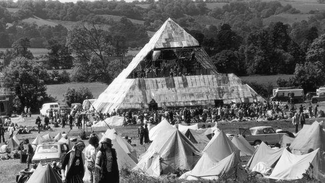 Glastonbury Festival Pyramid Stage in 1971