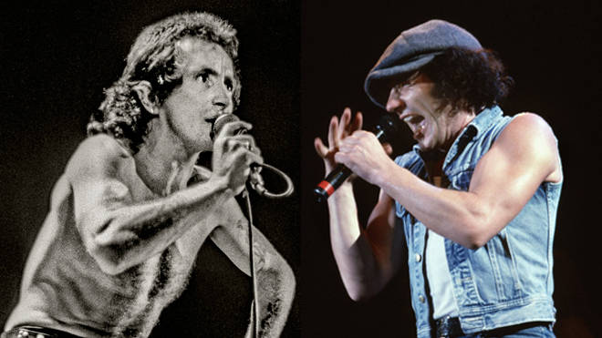 AC/DC: Bon Scott and Brian Johnson