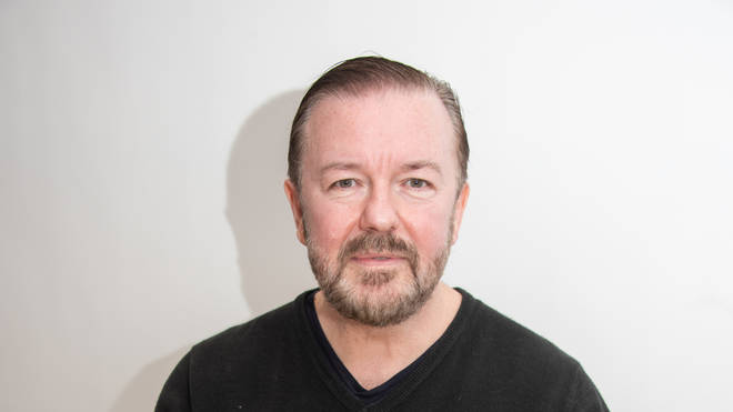 Ricky Gervais at an After Life press conference in 2020