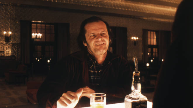 Jack Nicholson on the set of The Shining, based on the novel by Stephen King, and directed by Stanley Kubrick