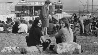 Festival-goers Sophie Boisselet and Chris Welch attend the Isle of Wight Festival, Afton Down, UK, 26th-30th August 1970.