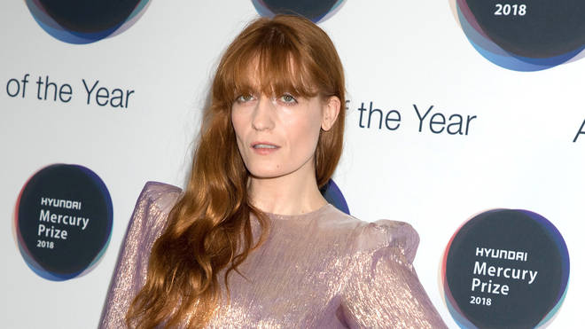Florence Welch at the Hyundai Mercury Prize ceremony 2018