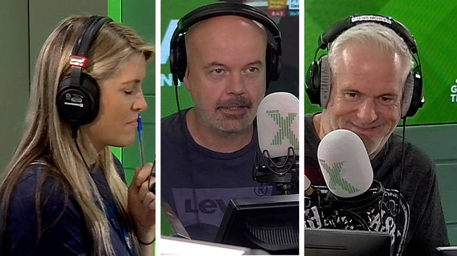 Pippa Taylor, Dominic Byrne and Chris Moyles play Politician or Notitician on The Chris Moyles Show