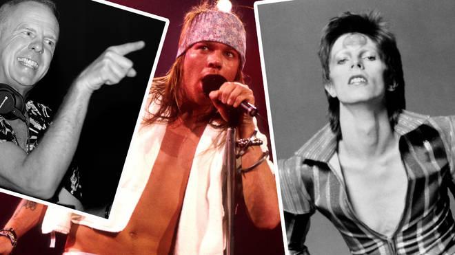 Fatboy Slim, Axl Rose and David Bowie