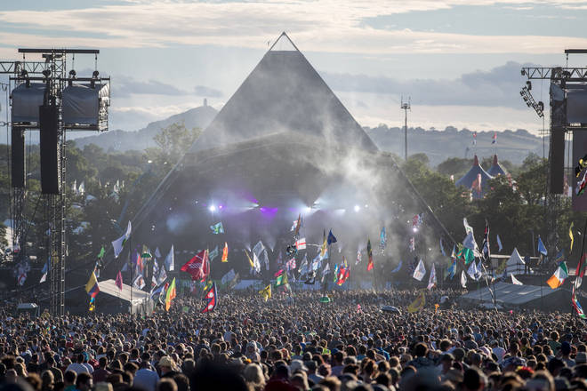 Glastonbury Festival's Pyramid Stage in 2017