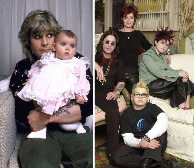 Ozzy Osbourne and his daughter Aimee plus The Osbournes promo shot with Ozzy, Sharon, Kelly and Jack Osbourne