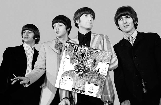 The Beatles at a press conference for their return to Shea Stadium in August 1966, just a couple of weeks afrer the release of Revolver