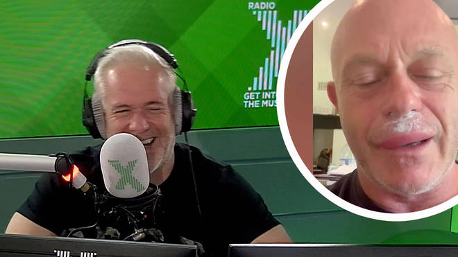 Chris Moyles reacts to Ross Kemp's wasp sting video