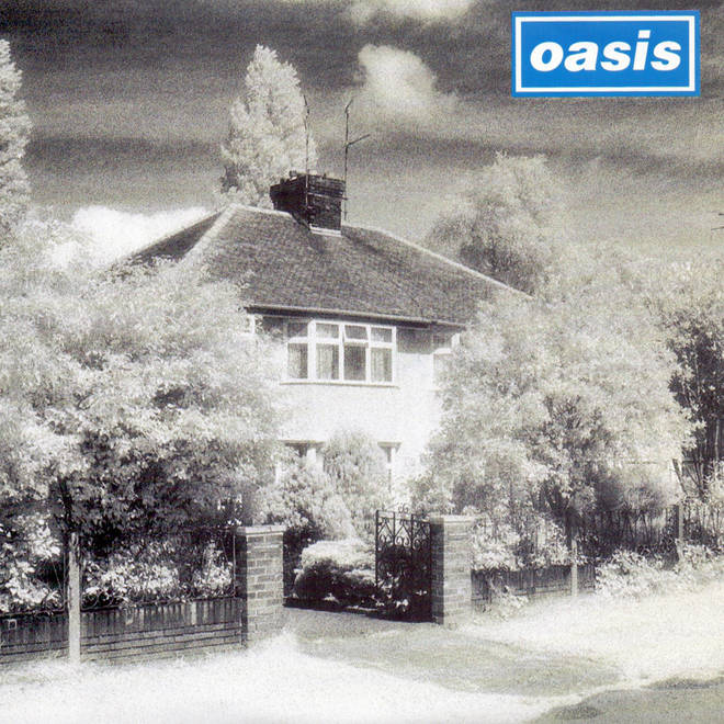 The cover of Live Forever by Oasis features a shot of John Lennon's childhood home in Liverpool