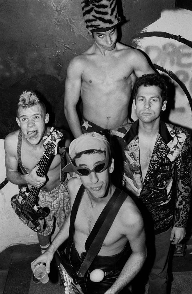 Red Hot Chili Peppers' Feal, Anthony Kiedis, Hillel Slovak and Cliff Martinez