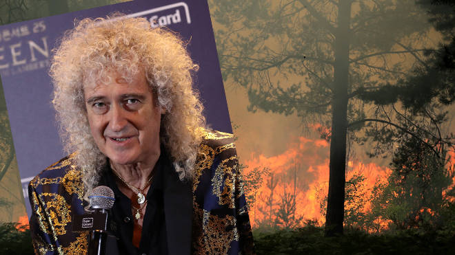 Brian May and the Surrey wildfires