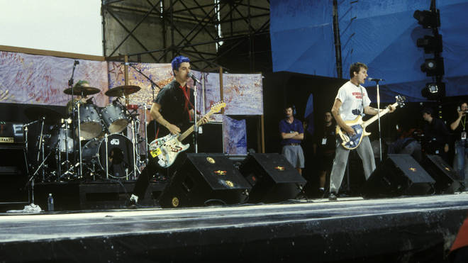 Green Day performing at Woodstock 94 on 14 August 1994