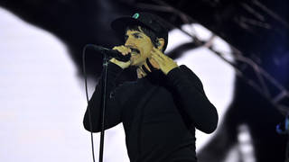 Anthony Kiedis of Red Hot Chili Peppers at Reading Festival 2016