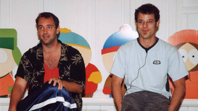 South Park creators Trey Parker and Matt Stone in 2000