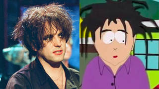 Robert Smith and his South Park counterpart