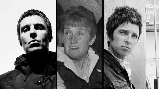 Liam Gallagher his mum Peggy and estranged brother Noel Gallagher