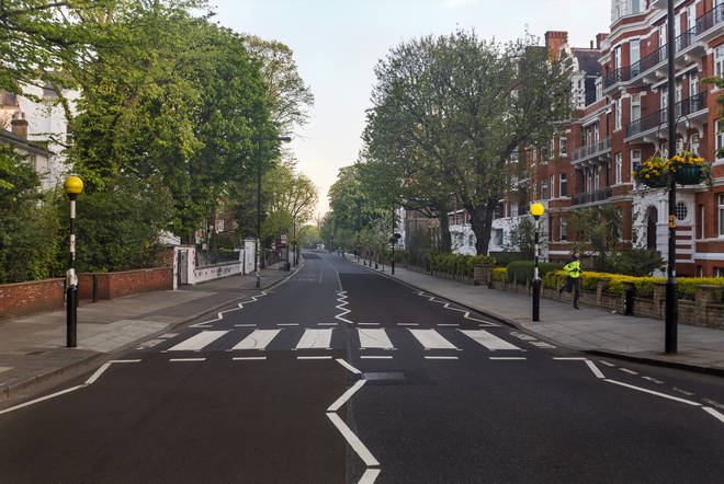 Abbey Road during the Coronovirus lockdown on 16 April 2020