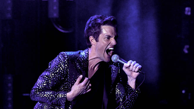 The Killers' Brandon Flowers in 2019 at the iHeartRadio ALTer Ego – show