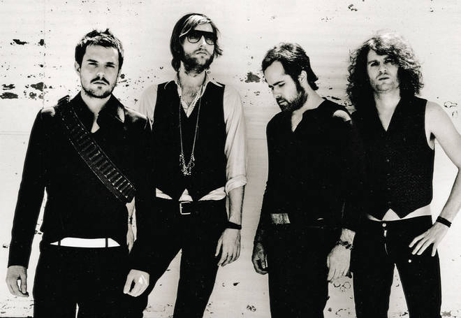 The Killers in 2006: Brandon Flowers, Mark Stoermer, Ronnie Vannucci Jr and Dave Keuning