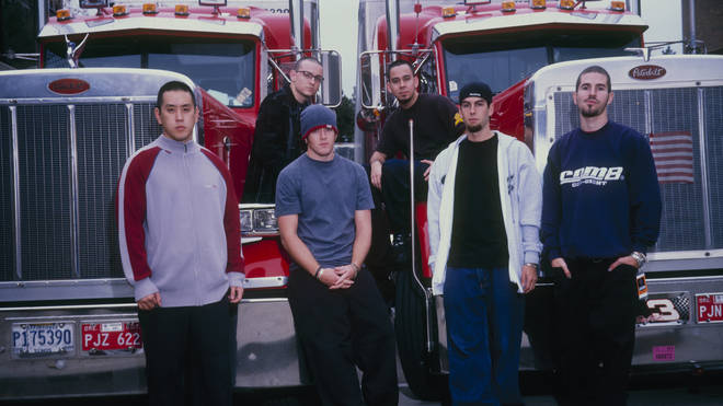 Group Portrait Of Linkin Park in 2001