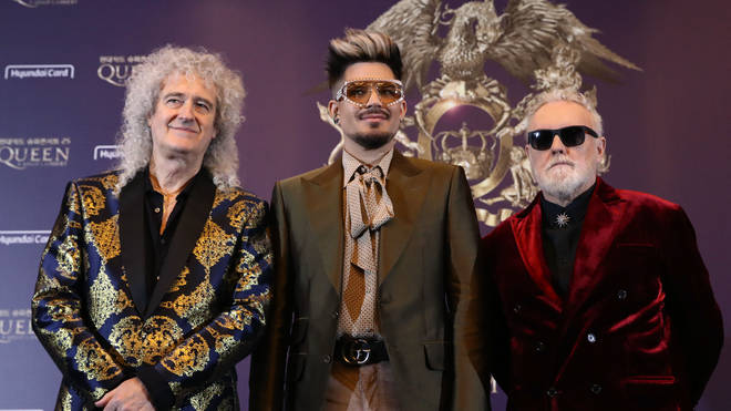 Queen + Adam Lambert hold press conference in Seoul in 2020