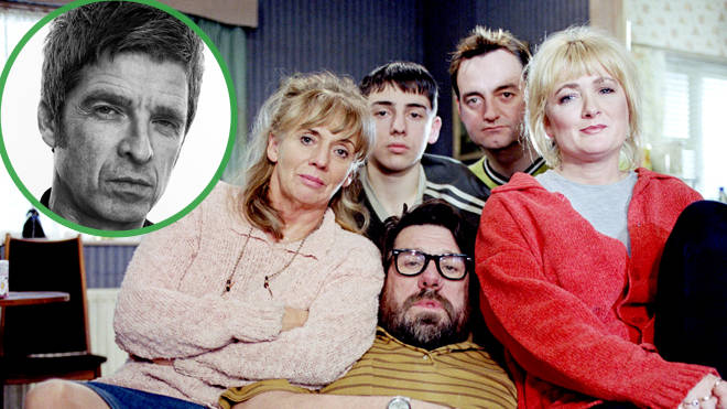Noel Gallagher and the cast of The Royle Family
