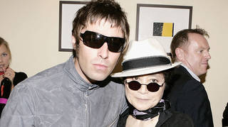 Liam Gallagher and Yoko Ono in 2005