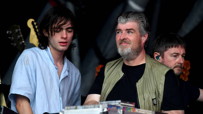 Lennon Gallagher and his Uncle Paul watch Liam play the Pryamid Stage at Glastonbury 2019