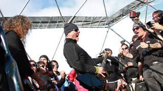 Metallica perform in Antarctica on 8 December 2013
