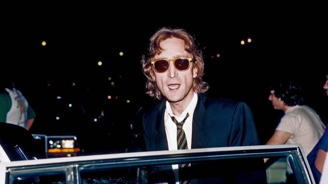 John Lennon outside his home in New York, August 1980