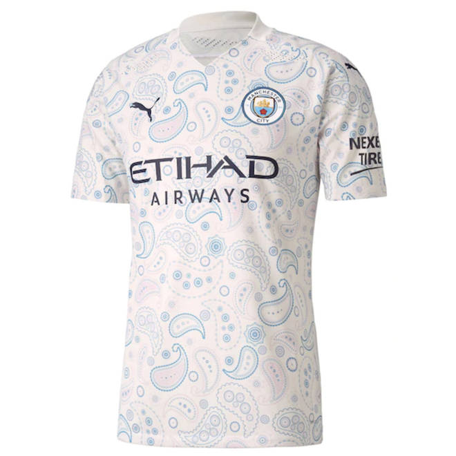 One of the new Manchester City Third Kit shirts