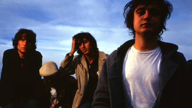 The Libertines in 2002: John Hassall, Gary Powell, Carl Barat, Pete Doherty