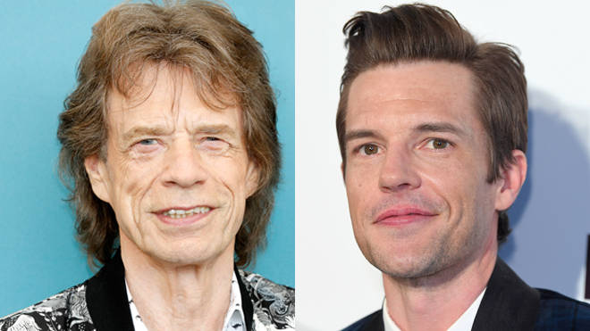 Mick Jagger and Brandon Flowers in 2019