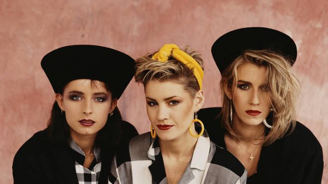 Bananarama in September 1984: Keren Woodward, Siobhan Fahey and Sara Dallin.